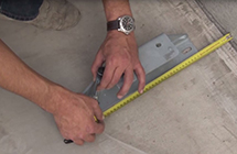 MARKING OUT THE ANCHOR BOLTS USING THE REFERENCE FOOT